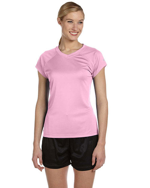Champion CW23 Ladies' 4 oz. Double Dry® Performance T-Shirt CASHMERE PINK at bigntallapparel