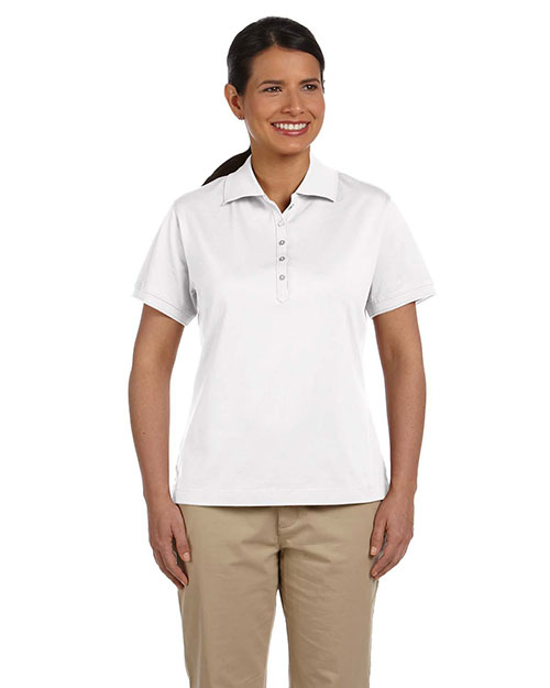 Devon & Jones D440W Ladies' Executive Club Polo WHITE at bigntallapparel