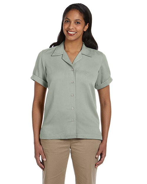Devon & Jones D670W Ladies' Isla Camp Shirt PALE GREEN at bigntallapparel