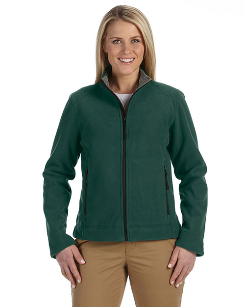 Devon & Jones D765W Ladies' Advantage Soft Shell Jacket DARK GREEN at bigntallapparel