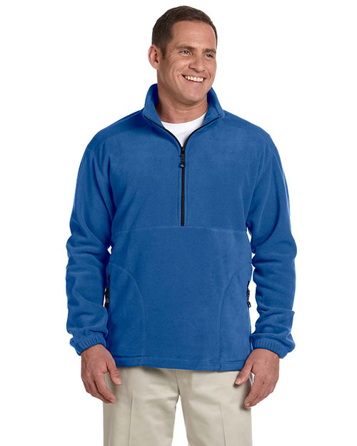 Devon & Jones D775 Mens Wintercept Fleece Quarter-Zip Jacket Cadet at bigntallapparel