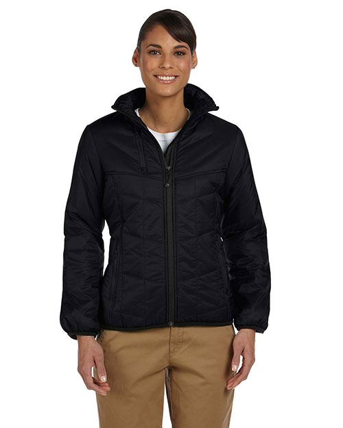 Devon & Jones D797W Ladies' Insulated Tech-Shell™ Reliant Jacket BLACK at bigntallapparel