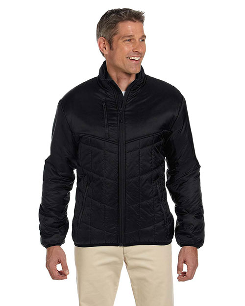 Devon & Jones D797 Men's Insulated Tech-Shell™ Reliant Jacket BLACK at bigntallapparel