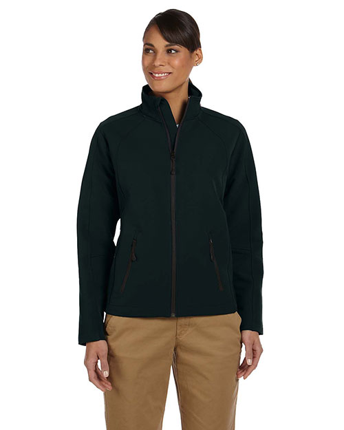 Devon & Jones D945W Women Bonded Tech-Shell Duplex Jacket Black at bigntallapparel