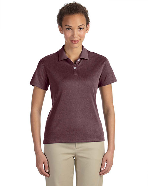 Devon & Jones DG210W Ladies' Pima-Tech™ Jet Piqué Heather Polo BURGUNDY HEATHER at bigntallapparel