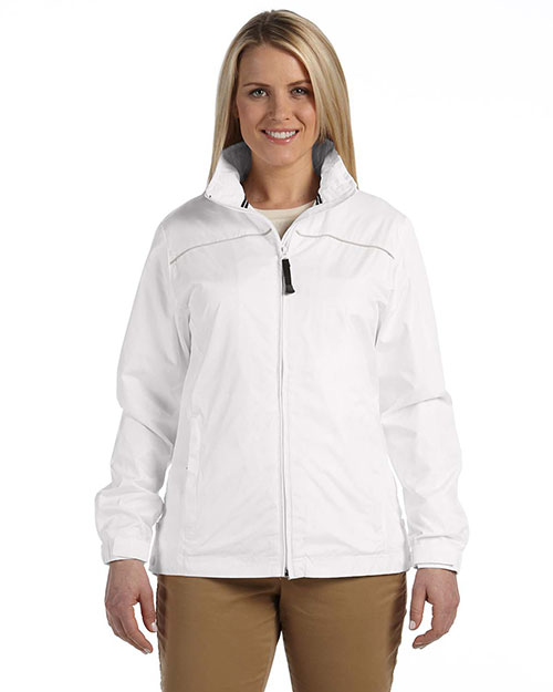 Devon & Jones DG795W Ladies' Element Jacket WHITE/PUTTY at bigntallapparel