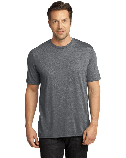 District Threads DM370 Men   Textured Crew Tee Charcoal at bigntallapparel