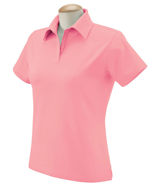Devon & Jones DP305W Ladies' Stretch Jersey Polo PETAL at bigntallapparel
