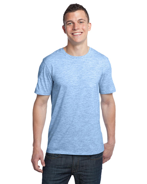 District Threads DT1000 Young Mens Extreme Heather Crew Tee  Blue at bigntallapparel