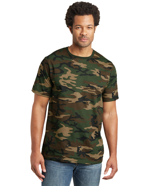 District Threads DT104C Mens Camo Perfect Weight District Tee Military Camo at bigntallapparel