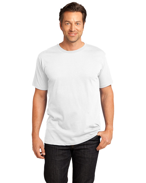 District Threads DT104 Mens Short Sleeve Perfect Weight District Tee Bright White at bigntallapparel