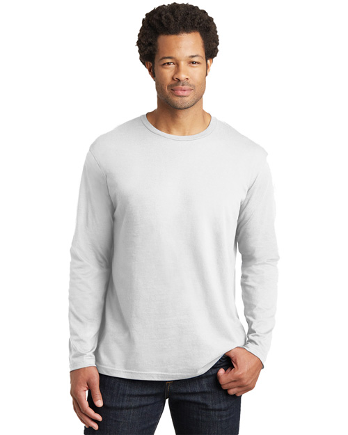 District Threads DT105 Mens Long Sleeve Perfect Weight District Tee Bright White at bigntallapparel