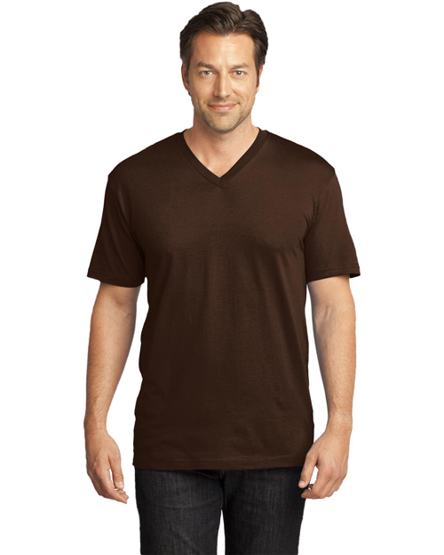 District Threads DT1170 Mens Perfect Weight V Neck Tee Espresso at bigntallapparel
