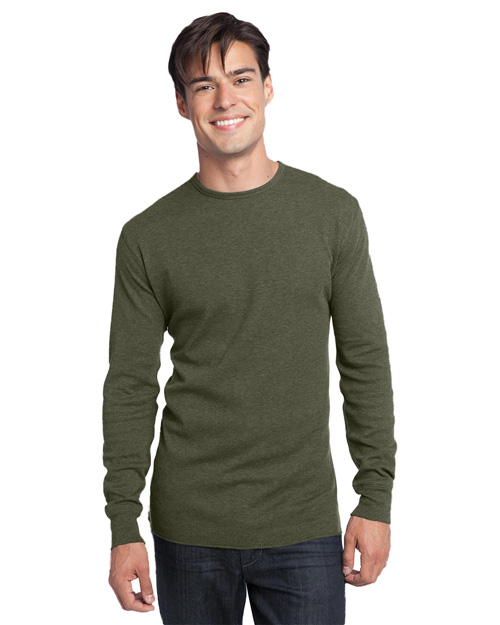 District Threads DT118 Mens Long Sleeve Thermal Army at bigntallapparel