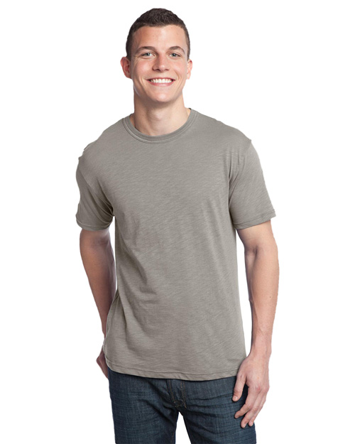 District Threads DT140 Men Slub Crewneck Tee Frost Grey at bigntallapparel