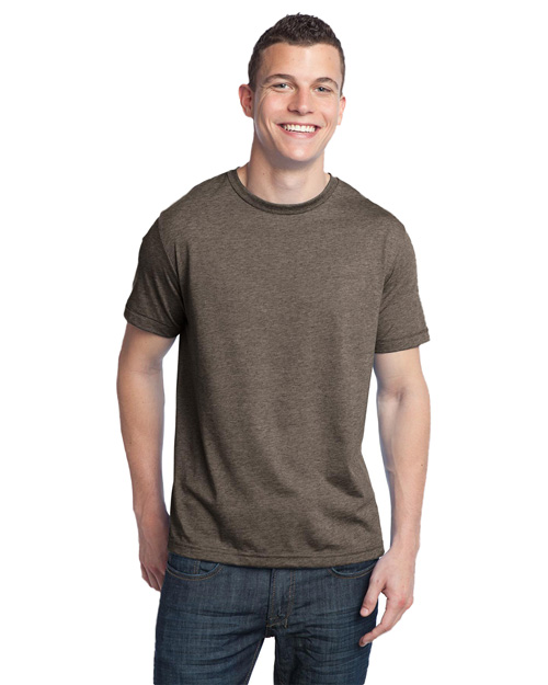 District Threads DT142 Men Tri-Blend Crewneck Tee Chocolate Heather at bigntallapparel