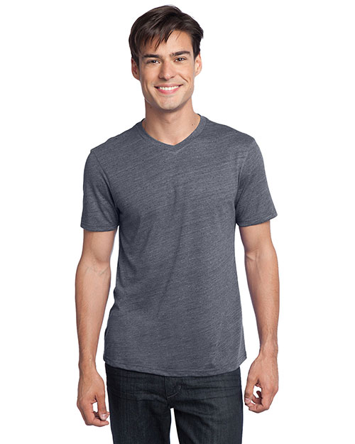 District Threads DT172 Young Mens Textured Notch Crew Tee.  Charcoal at bigntallapparel