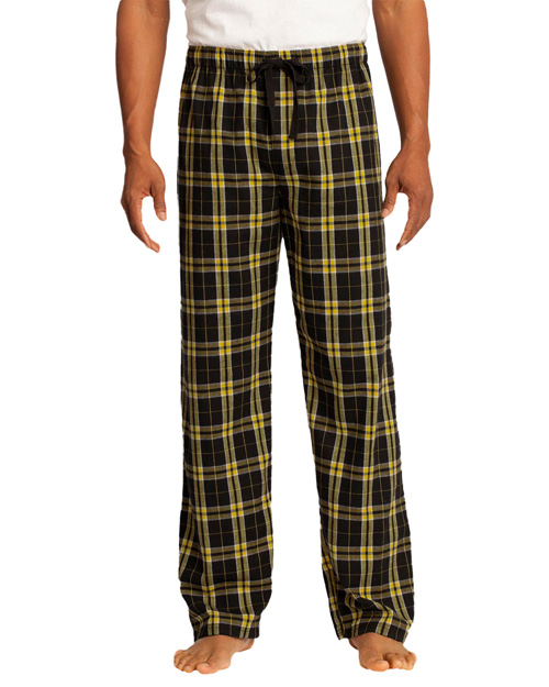 District Threads DT1800 District® Young Mens Flannel Plaid Pant  Gold at bigntallapparel
