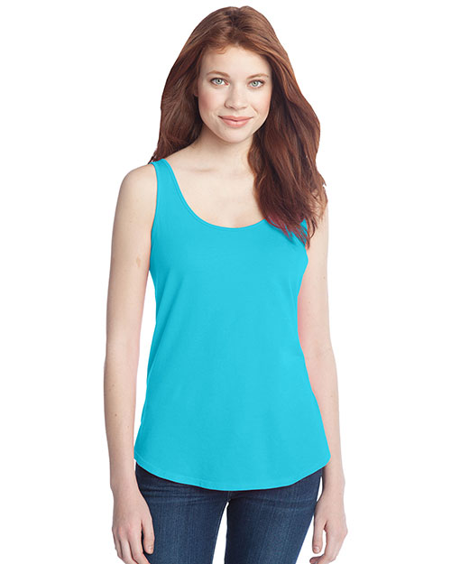 District Threads DT2500 Women Cotton Swing Tank Aquamarine at bigntallapparel