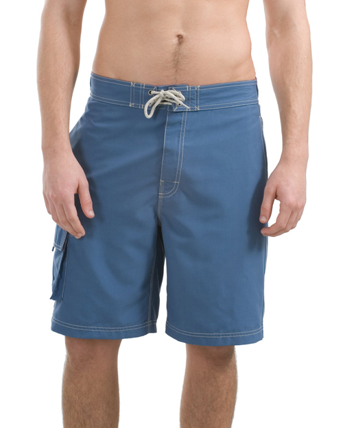 District Threads DT405 Mens Contrast Waist Boardshorts Bali Blue/Red at bigntallapparel