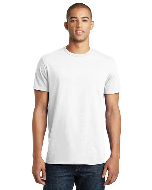 District Threads DT5000 Men Concert Tee White at bigntallapparel
