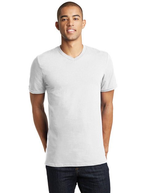 District Threads DT5500 Young Mens Concert V-Neck Tee  White at bigntallapparel