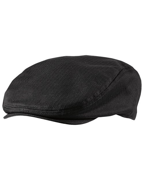District Threads DT621 Cabby Hat  Black at bigntallapparel