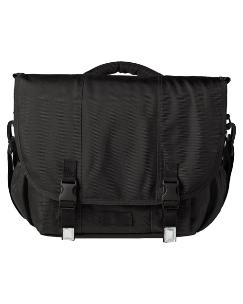 District Threads DT700 Montezuma Messenger Bag Black at bigntallapparel