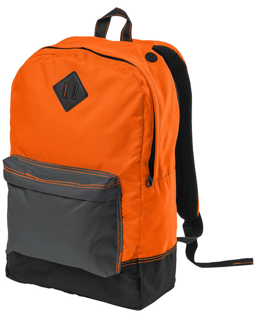 District Threads DT715  Retro Backpack Neon Orange at bigntallapparel