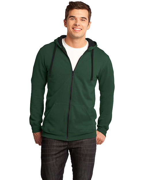 District Threads DT800 District® Young Mens Concert Fleece? Full-Zip Hoodie  Forest Green at bigntallapparel