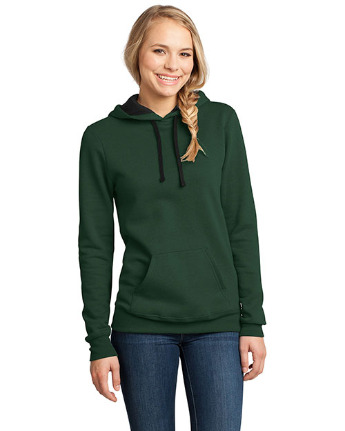 District Threads DT811 District® Juniors Concert Fleece? Hoodie  Forest Green at bigntallapparel