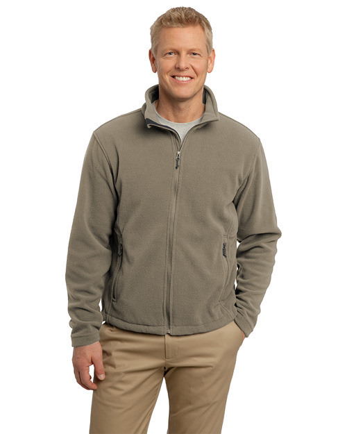 Port Authority F217 Men Value Fleece Jacket Brown Taupe at bigntallapparel