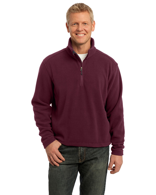 Port Authority F218 Value Fleece 1/4-Zip Pullover. Maroon at bigntallapparel