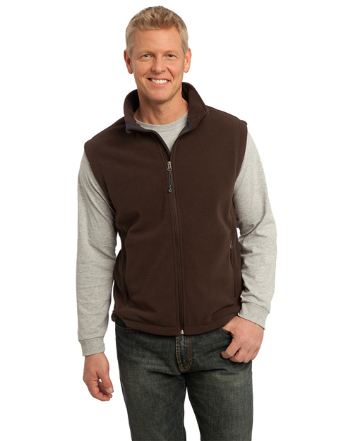 Port Authority F219 Value Fleece Vest. Dark Chocoloate Brown at bigntallapparel