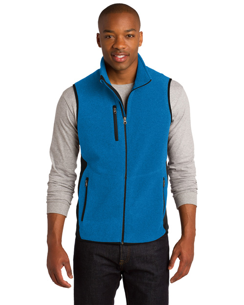 Port Authority F228 ® R-Tek® Pro Fleece Full-Zip Vest.  Imperial Bl/Bk at bigntallapparel