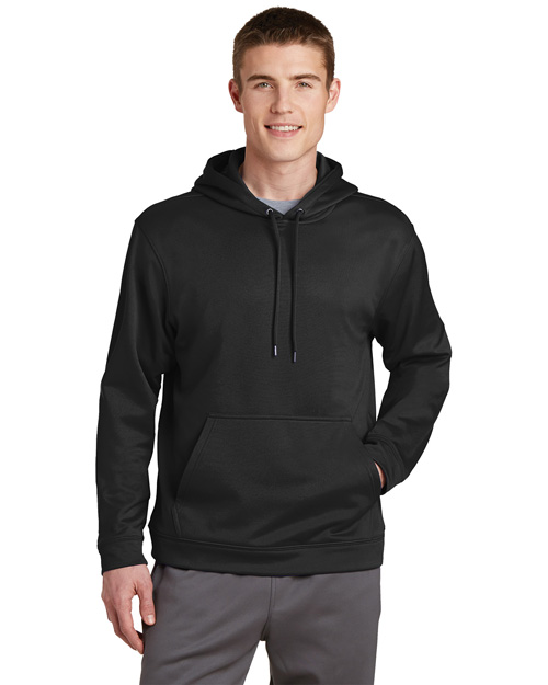 Sport-Tek F244 Mens Sport Wick Fleece Pullover Hoodie Black at bigntallapparel