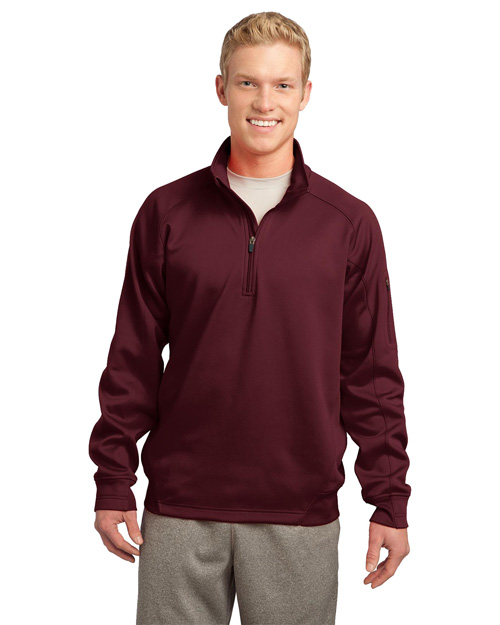 Sport-Tek F247 Tech Fleece 1/4-Zip Pullover.  Maroon at bigntallapparel