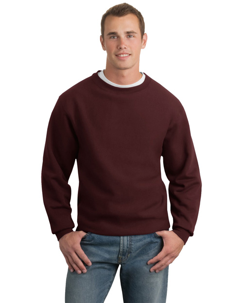 Sport-Tek F280 Mens Super Heavy Weight Crewneck SweatShirt MAROON at bigntallapparel