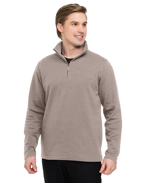 Tri-Mountain F595 Men's 1/4 Zip Sweatshirt CAMEL at bigntallapparel