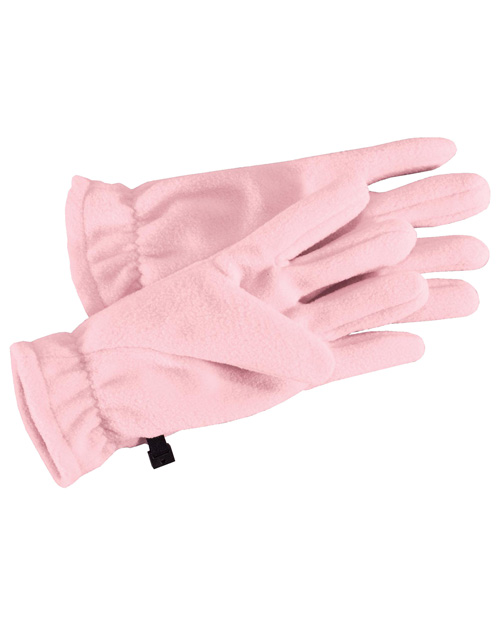 Port Authority GL01 Fleece Gloves. Light Pink at bigntallapparel