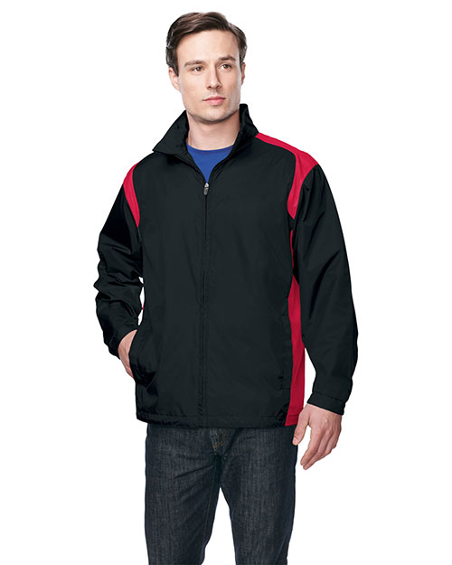 Tri-Mountain J1450 Men 100% Nylon Jacket Black/Red at bigntallapparel