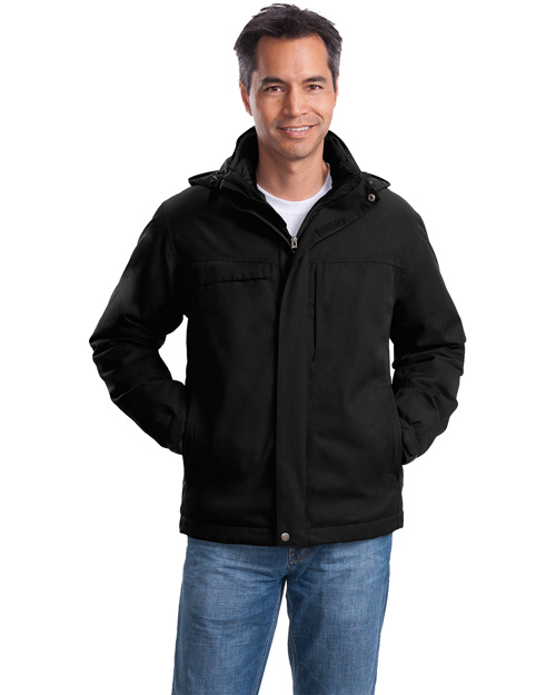 Port Authority Signature J302 Herringbone 3 in 1 Parka Black at bigntallapparel