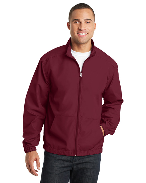Port Authority J305 Essential Jacket. Claret Red at bigntallapparel