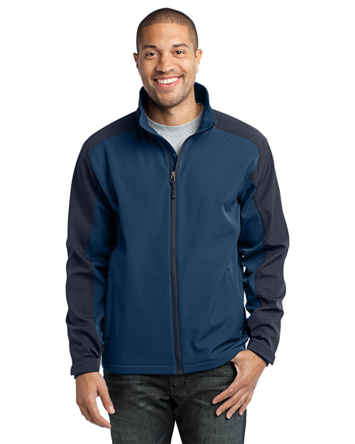 Port Authority J311 Men Gradient Soft Shell Jacket Insignia Blue/Navy Eclipse at bigntallapparel