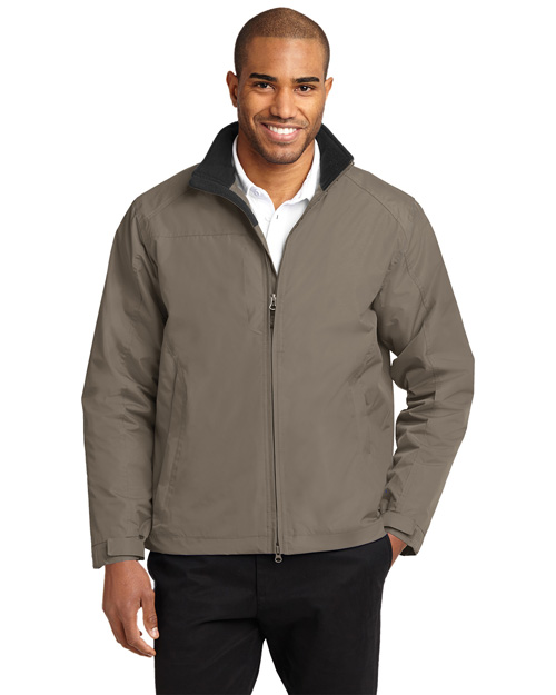 Port Authority Signature J354 Mens Challenger II Jacket Khaki/True Black at bigntallapparel