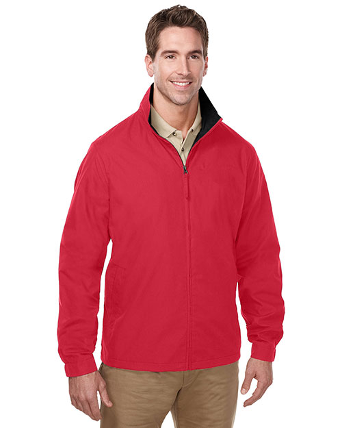 Tri-Mountain J5308 Lightweight jacket features a windproof/water resistant shell of 65% polyester/35% cotton RED/BLACK at bigntallapparel