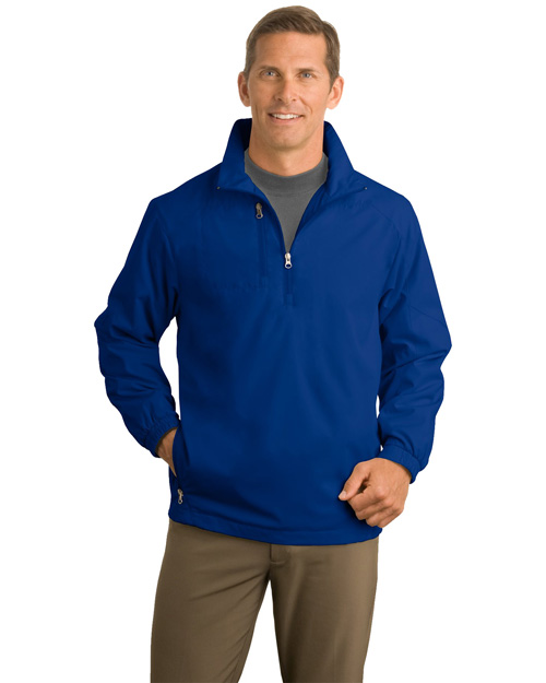 Port Authority J703 Men 1/2 Zip Wind Jacket True Blue at bigntallapparel