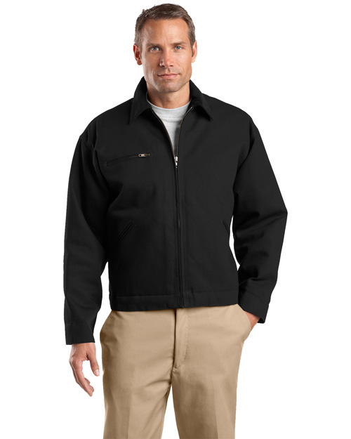 CornerStone J763 Mens Work Jacket Black at bigntallapparel