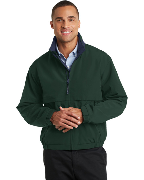 Port Authority J764 Men Legacy Jacket Hunter/Dark Navy at bigntallapparel