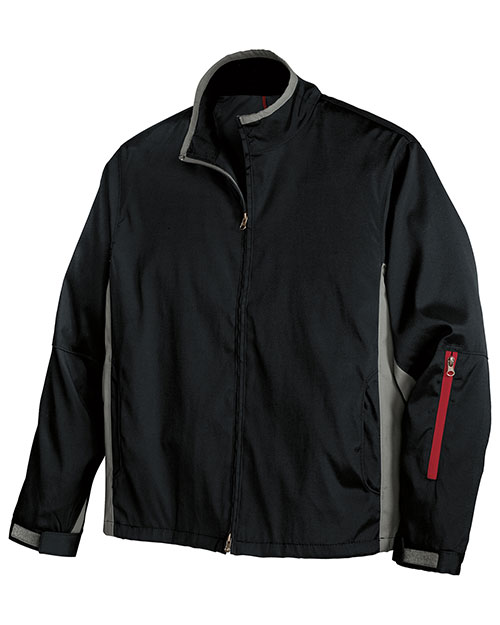 Port Authority J765 Mens Mrx Jacket Black/Grey at bigntallapparel